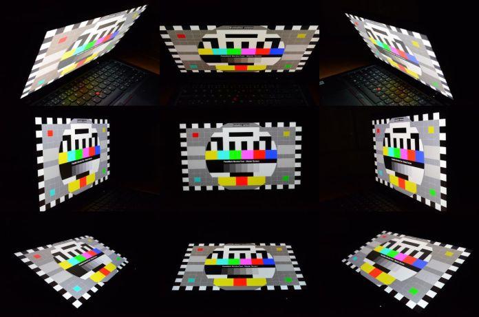 Pozorovací úhly 4K HDR displeje, jak je zachytil můj fotoaparát.