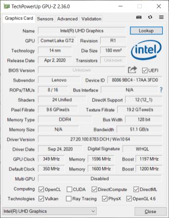 Lenovo Legion Creator 7 – iGPU