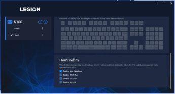 Zakázání klávesových zkratek v Herním režimu
