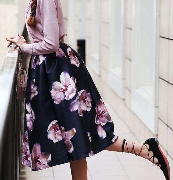 kvetinové sukne