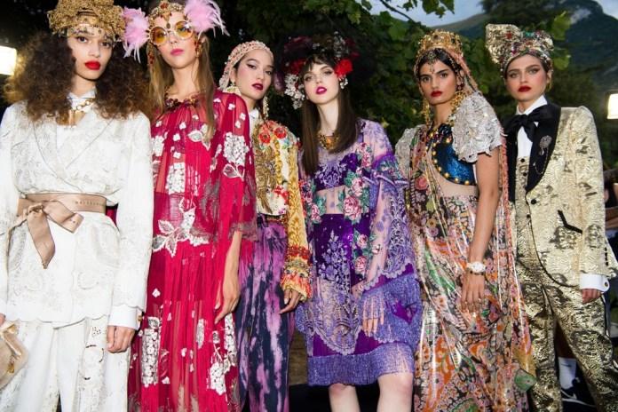 Módna prehliadka Dolce and Gabbana - jar 2019, Como, Taliansko