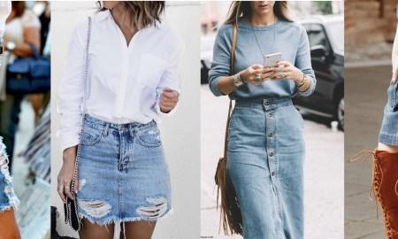 Denimové sukne sú späť!