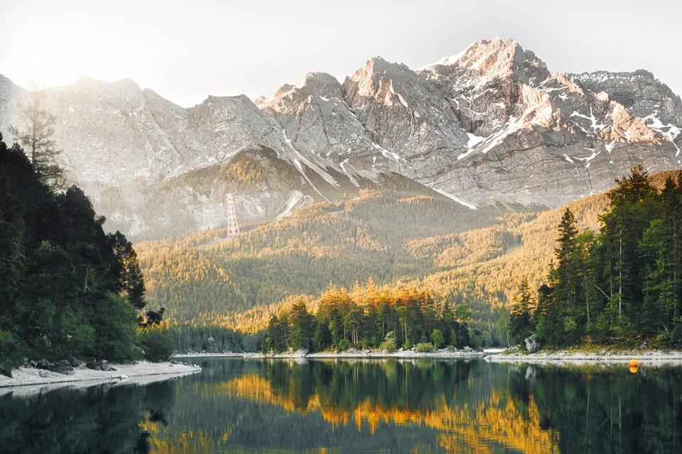 Eibsee Bayern Garmisch Zugspitze - 9 Fotospots für atemberaubende Herbstfotos in Deutschland