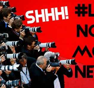 paparazzi press photographers noisy cameras