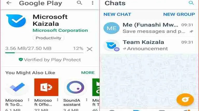 Microsoft Kaizala is a mobile phone app