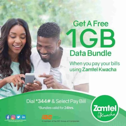 Zamtel Free 1GB Data