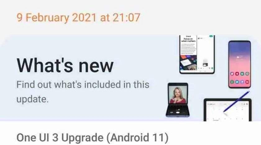 Samsung One UI 3 changes