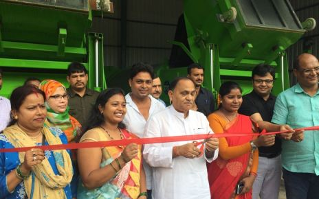 Minister cp Singh inaugurated mini garbage transfer station