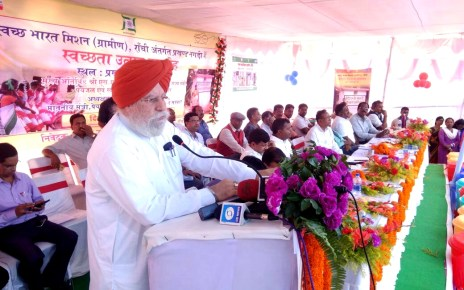 Cleniness programme in nagari : central minister addressed to people