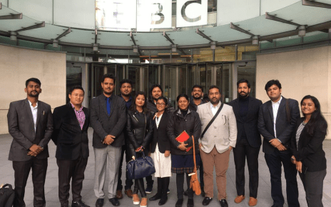 a delegation of 13 member visited the head quarter of bbc