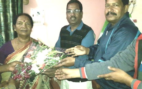Simdega bjp congratulated mla vimla pradhan on her selection for best mla