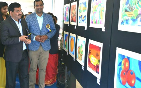 Inaguration of two days painting competition in y b n public school
