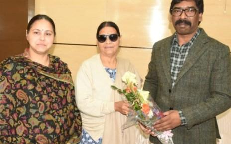 Ex cm bihar rabri devi and her daughter misa bharti met cm Jharkhand hemant Soren