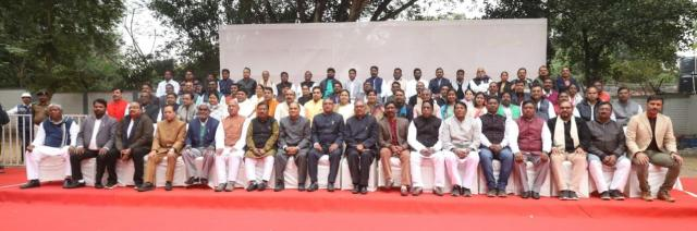 Photo session of newly elected mla with cm Jharkhand