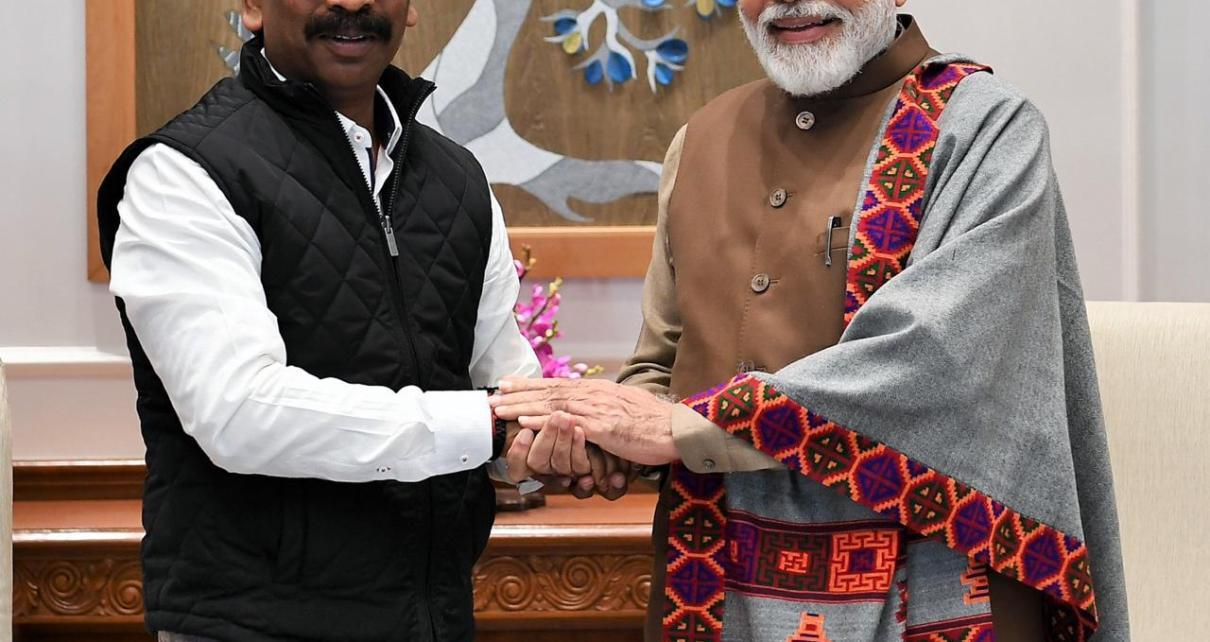 Cm Jharkhand, hemant Soren met pm Narendra Modi