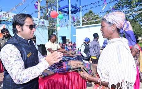 Jci Ranchi celebrated republic day in labed village