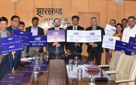 Chief secretary dr. D k tiwary launched logo of cii, On completing 125 years