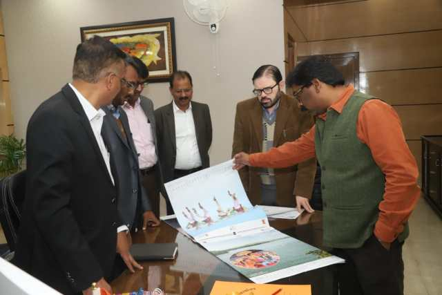 Cm Jharkhand hemant Soren launched Calender 2020 of tourism department.