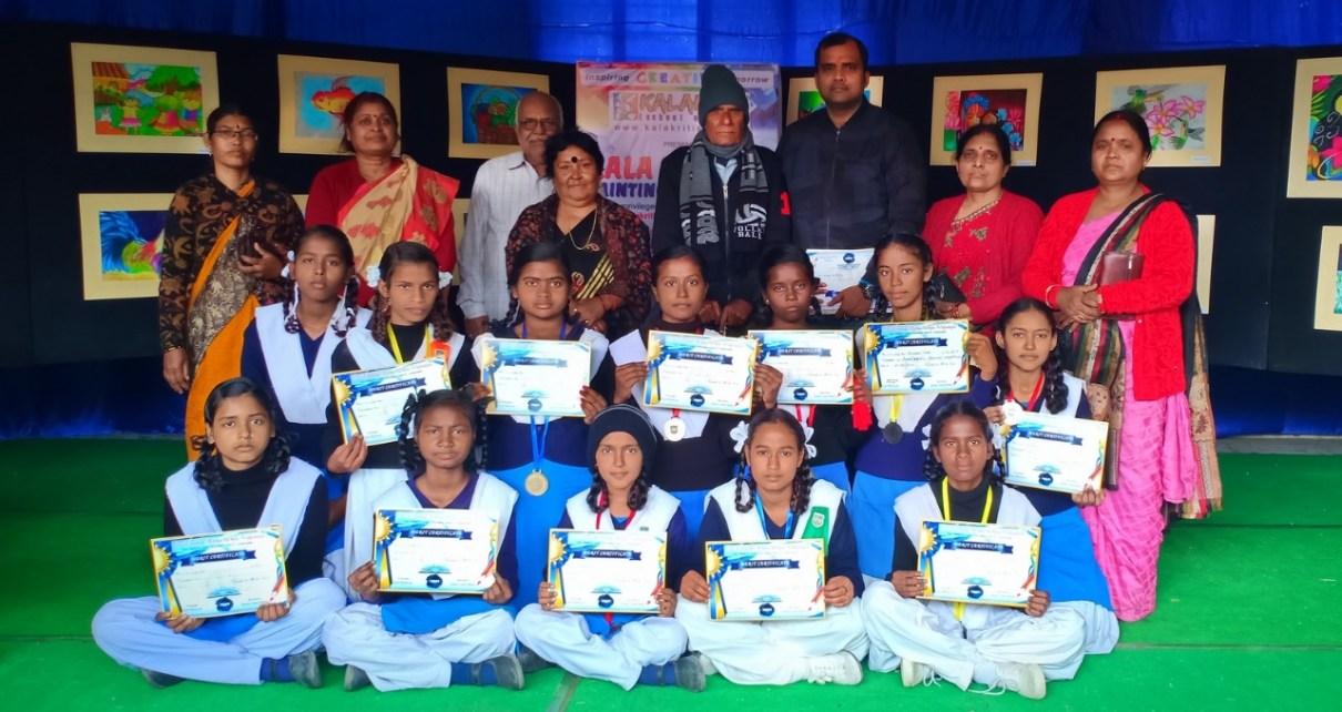 Painting competition by kalakriti ended with prize distribution