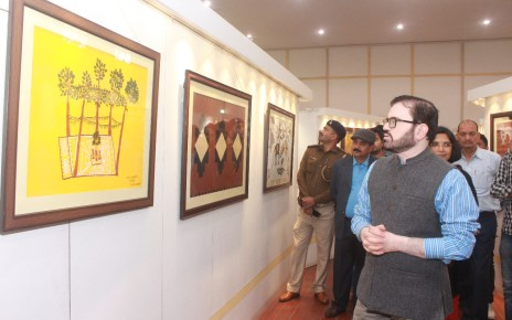 Chief secretary dr. D k tiwary inagurated two days painting exhibition