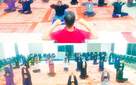 Weekly yoga dhayan session in ranchi District court.