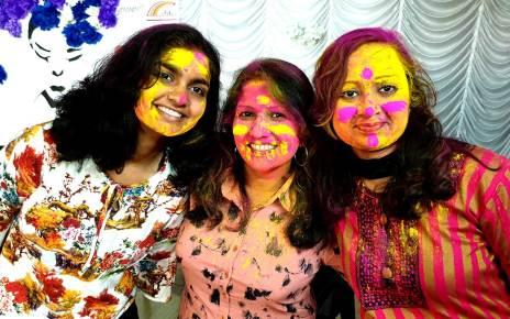Artists of sanskar bharti celebrated festival of colours holi