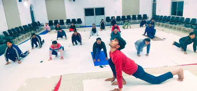 Yoga dhayana session in ranchi civil court concluded.