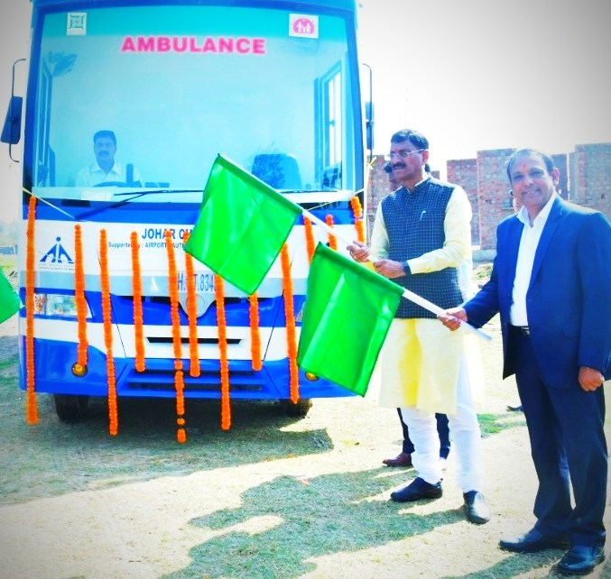 Member of parliament, ranchi sanjay seth inagurated johar mobile clinical van and aadarsh aaganwadi kendra