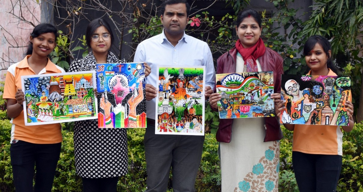 Result of online painting competition organized on independence day declared