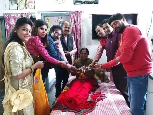 Ranchi press club felicitated women journalist