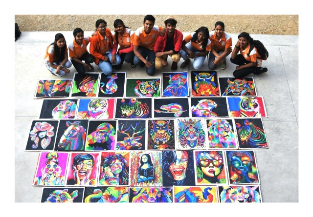 Indradhanush- colours of life : a painting workshop by kalakriti school of arts