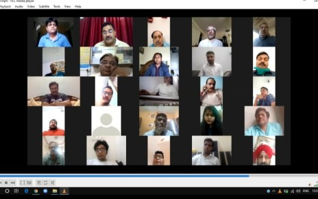 Third meeting of Working journalists of India via video conferencing