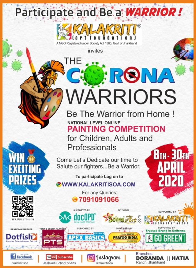 Online painting competition, the corona warriors started