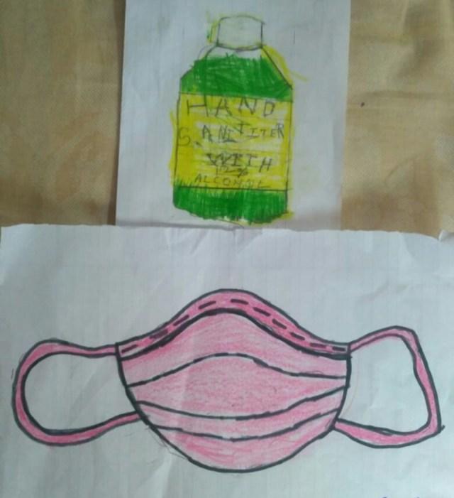 आयु वर्ग 9-12 के प्रथम पुरुस्कार विजेता नमन घई द्वारा बनाई गई पेंटिंग