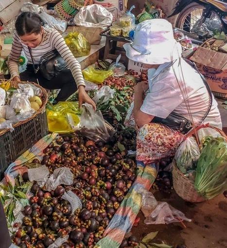 Mangosteen at Old Market, Siem Reap