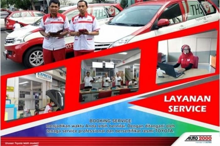 Booking Service di Hari Minggu Toyota Auto2000