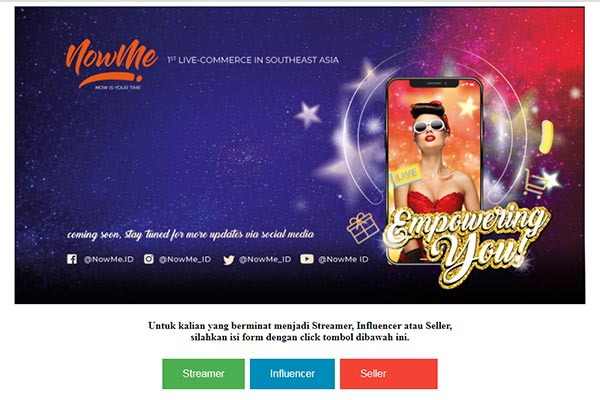 NOWME Live Commerce Indonesia