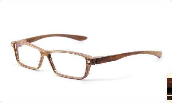 Armação de madeira para óculos artesanais