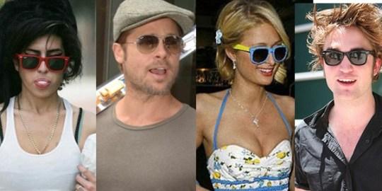 Amy Winehouse, Brad Pitt, Paris Hilton e Robert Pattinson