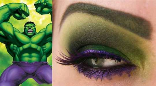 Maquiagem Hulk