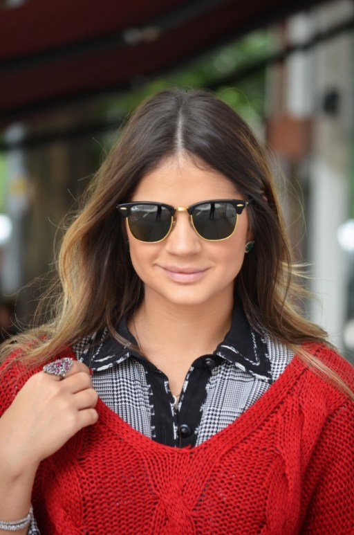 Thássia Neves com Ray Ban Clubmasters