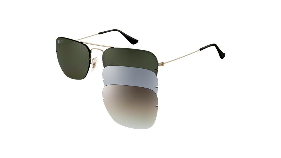 óculos ray ban lentes verde cinza e dourada