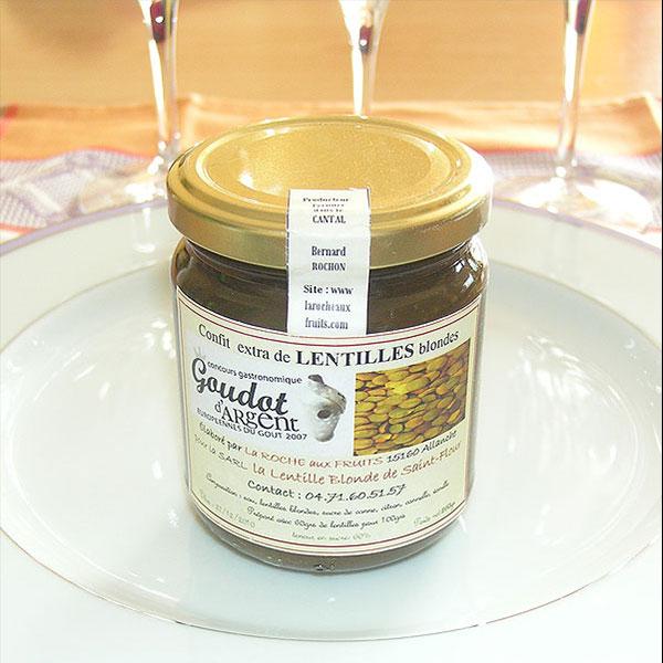 Confit extra de lentilles blondes de Saint-Flour