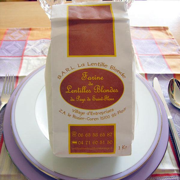 Farine de lentilles blondes de Saint-Flour