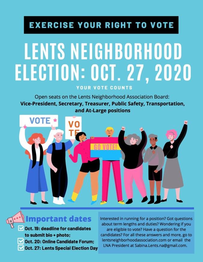 Lents Neighborhood Election