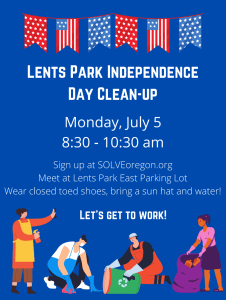 Lents Independence Day Clean-up