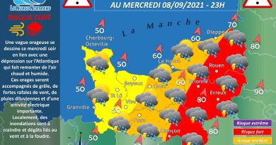 ALERTE ORAGE : MERCREDI 08 SEPTEMBRE 2021