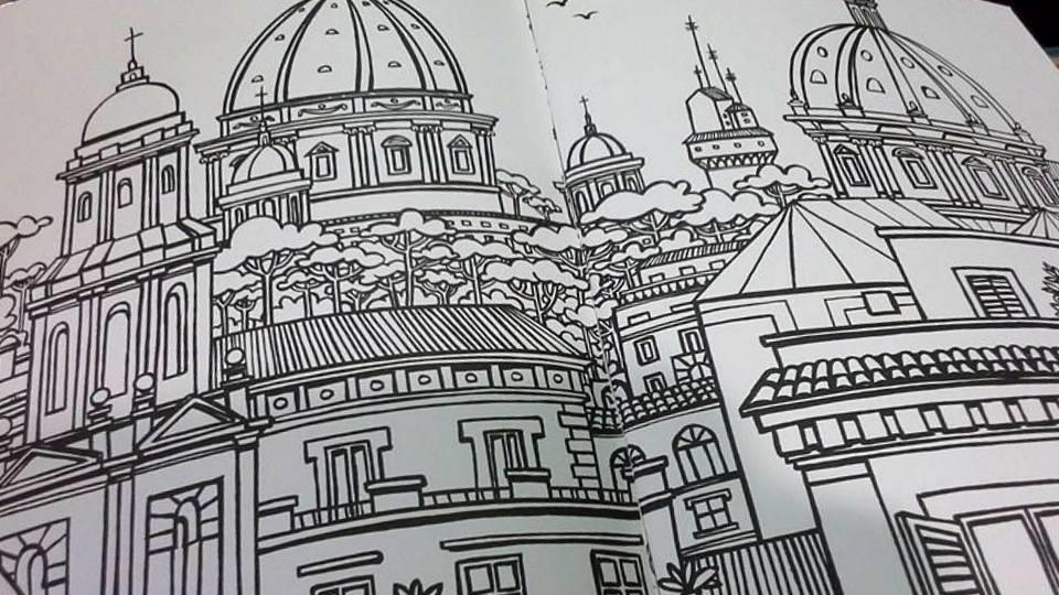 Album da colorare su roma le nuove mamme roma for Disegni della roma da colorare