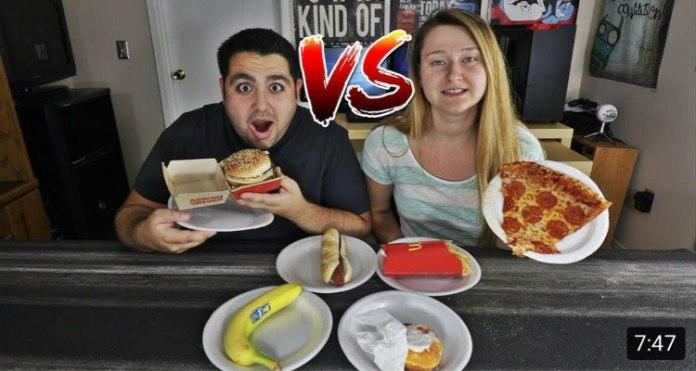 youtuber e cibo spazzatura