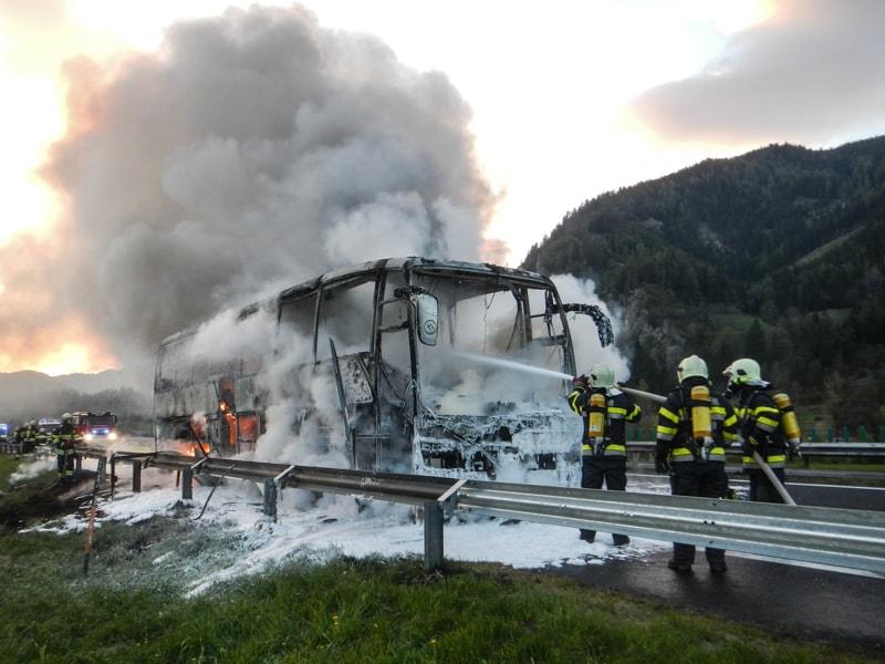 Brand Reisebus
